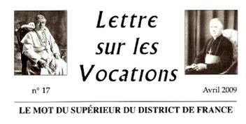 Vocations FSSPX